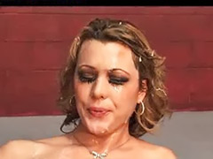 Ashley, Amateur bukkake, Gangbang bukkake, Bukkake gangbang, Cum covered