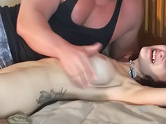 Tickling, Tickled, Tickle, Tits bondage, Tit bondage, Bondage big tits
