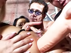 Group gangbang anal, Hard toying, Group hard