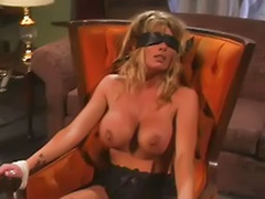 Tied tits, Tits tied, Tit spank, Masturbate while, Busty tied, Blond tied tits