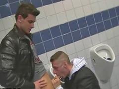 Gays in bathroom, Breaking