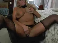 Busty stockings solo, Busty stockings, Busty stocking, Busty blonde masturbation, Amateur stockings masturbation, Solo toy stockings