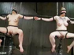 Big tit strap, Machine fucking