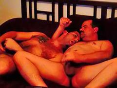 Roommate, Hairy wank, Amateur gay handjob