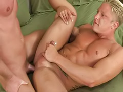 Tattoo gay, Wank and cum, Gay blond, Aubrey