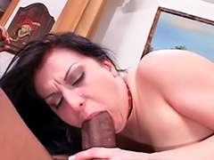 Thick interracial, Thick cum, Double black cock