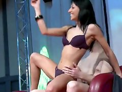 Strippers, Stripper, Oiling, Oiled, Horny amateur, Oil
