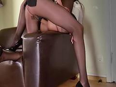 Pantyhose sex, Pantyhose masturbation, Strap-on lesbians, Strap sex, Strap on lesbian, Sexe in office