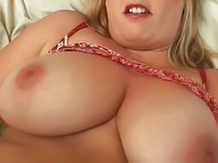 Girls play pussy, Big tits blonde solo