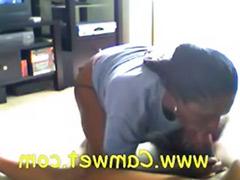 Wife webcam, Webcam ebony, Ebony wife, Ebony webcam, Blowjob on the floor, Webcam wife