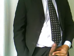 Suit, Solo office, Solo black wank, Indian solo, Indian office, Indian masturbation