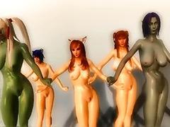 Lesbian dancing, Lesbian dance, Lesbian animation