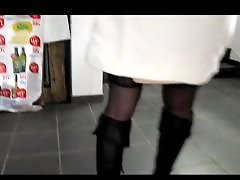 Voyeur upskirt, Upskirt voyeur, Supermarket, Stockings upskirt, Stocking upskirt, In stockings