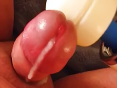 Stroking, Strokes, Hitachi, Stroking cock, My cock