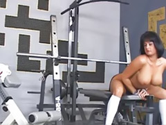 Public naked, Naked public, Gym girl