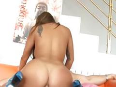 Big tits big ass brunette anal