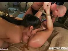 Threesome bondage, Bondage lick