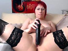Toy girl, Rubbed, Rub, Redhead stockings, Redhead masturbation, Redhead masturbate
