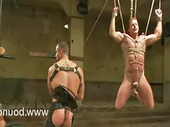 Tied him, Tied anal, Gay work, Drew