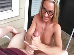 Mature handjobs, Mature blonde handjob, Mature blond handjob, Mature masturbation blonde, Lube handjob, Lube
