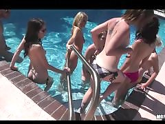 Huge group, Public sex, Public group, Public orgy, Pool, Sex slutty