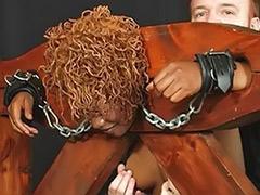 Threesome bondage, Toys bondage, Masturbate while, Moans, Moaning, Moan