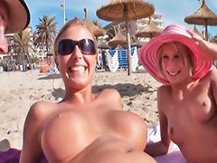Threesome on beach, Rimming threesome, Rim toy, Sex the beach, Sex beach, Sex on beach