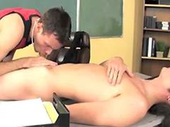 In classroom, Gay pornstar
