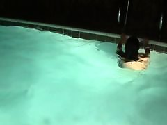 Two teens, Pool, Naughty teen