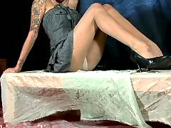 Upskirt pantyhose, Tattooing, Tattooed, Tattoo, Pantyhose upskirt, Stockings upskirt