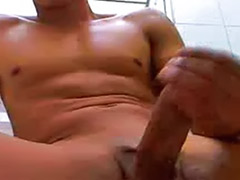 Webcam show, Showing love, Muscled, Muscle, Masturbate bathroom, Love gay