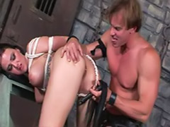 Spank fuck, Dungeon, Brunettes in bondage, Spanked fucked