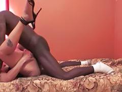 Vagina camera, First time on, First cum, Ebony high-heels, Ebony heels, Cum on vagina
