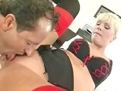 Secretary anal, Blonde boss, Anal boss, Secretary stockings