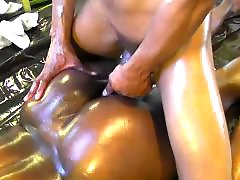 Oiling, Oiled, Oil ebony, Black couple, Amateur couple, Couple amateur