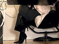 Under desk, Under, Stockings masturbation, Stockings masturbate, Stocking masturbation, Secretarys
