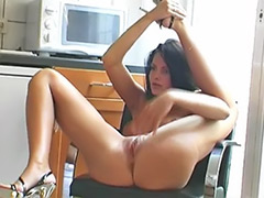 Pantyhose masturbation solo, Pornstars in pantyhose, Solo in kitchen, Solo in heels, Black pantyhose, Black heels solo