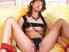 Brush, Asian clit, Clits, Japanese