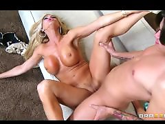 Riding blonde, Riding mom, Rides dick, Not her, Not mom, Milf riding