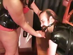 Threesome bbw, Thats big, Redhead bbw, Latex threesome, Latex femdom, Latex fetish ass