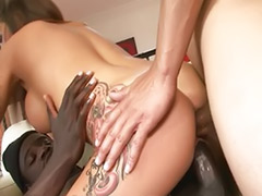 Tits gangbang, Interracial double penetration, Interracial anal gangbang, Double penetration interracial, Double big tits, Double anal interracial