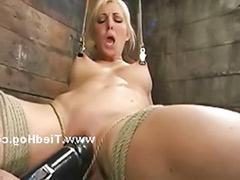 Tied tits, Tits tied, Perky tits, Perky, Blond tied tits