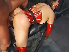 Red latex, Slave sex, Slave anal, Latex slave, Latex bondage, Latex asians