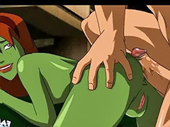 Justice league, Anal cartoon sex