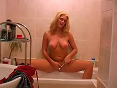 Solo bath, Hot blond striptease, Girls in bath, Bath blonde, Bathing