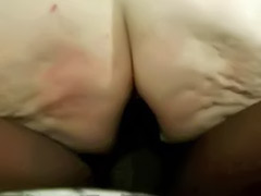 White milf ass, White milf, White mature, White big ass, White cock in black ass, Black mature big ass sex