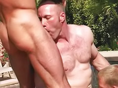 Hairy hunk, Hairy group anal, Hairy group, Group hairy, By the pool, Cum on hairy