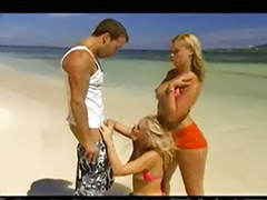 Threesome on beach, Sex the beach, Sex beach, Sex on beach, On beach, Beach threesome
