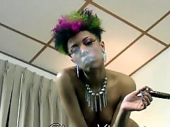 Smoking ebony, Smoking, Ebony smoking, Ebony masturbation, Ebony masturbating, Black masturbation