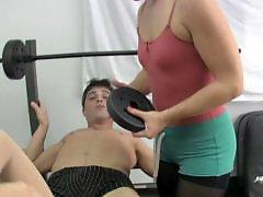 In gym, Handjob gym, Handjob face, Gym handjob, Gym, Ballbustting